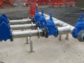 Dirt water pipework/valve installation