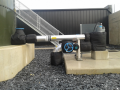 Circulation pump & pipework - trace heated and insulated