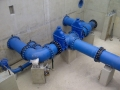 Service reservoir dn600 pipework installation - clean water