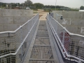 Storm tank access platform - fabrication, lift, install