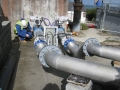 Dirty water pipework/valve fabrication & installation