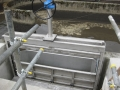 Actuated penstock installation